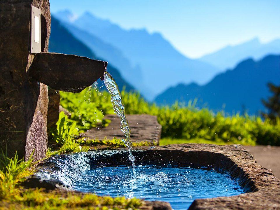 Wellwasser Kraft des Wassers