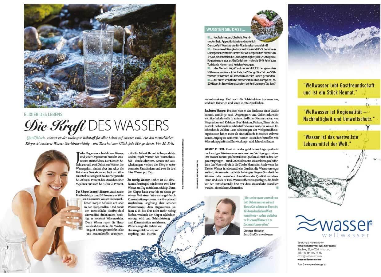 Wellwasser Kraft des Wassers - Weekend