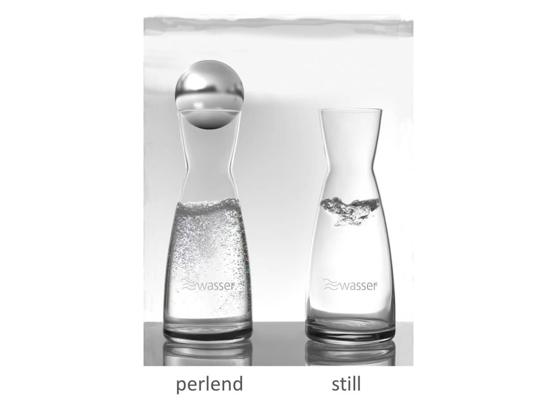 Wellwasser still und perlend