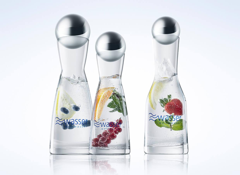 Wellwasser Karaffen Vital perlend